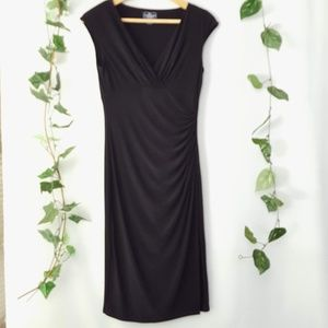 American Living black wrap dress size 4